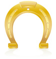 gold horseshoe talisman charm vector image
