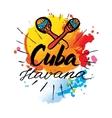 Cuba Havana logo vector image