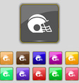football helmet icon sign Set with eleven colored vector image