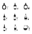 Alcohol set icons in black style Big collection vector image