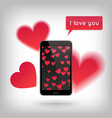 valentine s day and love concept vector image