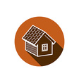 Country house constructed with bricks home symbol vector image