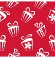 Gift box red pattern for banner graphic or vector image vector image
