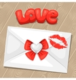 Greeting card with envelope Concept can be used vector image