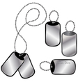 Dog tags vector image