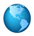 Globe America maps vector image vector image