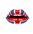 womans uk lips vector image