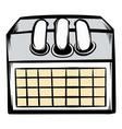 desktop calendar icon cartoon vector image
