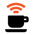 Free Wi-Fi coffee house area vector image