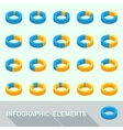Infographic elements - circle diagrams vector image