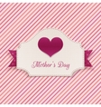 Mothers Day realistic Banner with big Heart vector image