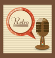 retro microphone music studio technology vector image