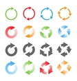 Rotating Arrows Set vector image