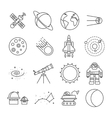 Space Universe Isolated Icon Set vector image