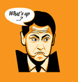 Whats up face vector image