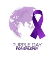 World epilepsy day vector image