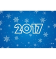 Happy New Year 2017 Text Design Flat vector image