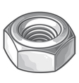 Screw nut vector image