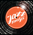 poster for the jazz music with vinyl record vector image