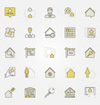real estate colorful icons vector image