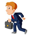 businessman with bag vector image