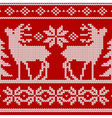 seamless knit pattern deers vector image