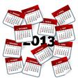 2013 calendar template vector image