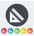 Straightedge vector image vector image
