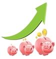 Pig piggy bank Interest money vector image