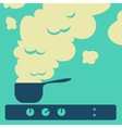 Cooking food in the kitchen vector image
