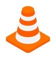 An orange road hazard cone isometric 3d icon vector image