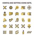 Config icon vector image