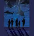 people in oceanarium couples people with vector image