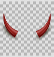 red halloween evil horns vector image