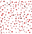 Romantic red heart pattern vector image