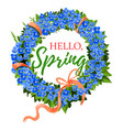 spring holiday crocus flowers wreath vector image