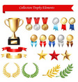 trophy icons vector image