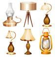 Vintage design of lamps vector image
