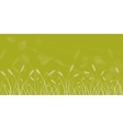 Wheat field line border on blurred background vector image