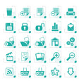 stylized 25 simple realistic detailed internet vector image vector image