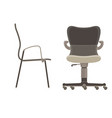 Office chair icon set business furniture isolated vector image