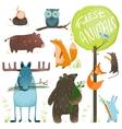Cartoon Forest Animals Set vector image