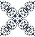Seamless pattern of black ink blobs vector image