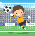soccer goalkeeper at the gate vector image