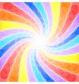 Abstract rainbow swirl background vector image