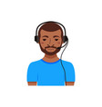call center customer support phone operator vector image