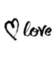 handwritten lettering for valentines day card vector image