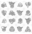 Isometric abstract shapes set vector image
