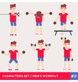 men workout set2 vector image