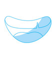 Mouth smiling cartoon vector image